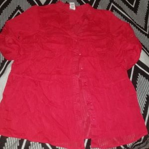 16W red blouse